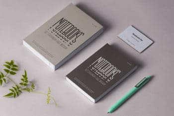 Notebook Stationery PSD Mockup for Free