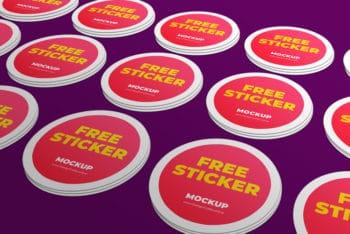 Free Sticker Mockup Download for Branding Purposes