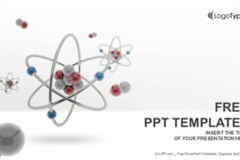 Free 3D Atom Model Powerpoint Template