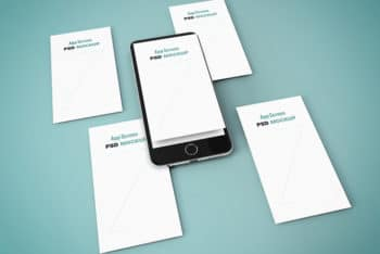 iPhone App Screens PSD Mockup – Available with Perspective App Screens in Isometric View