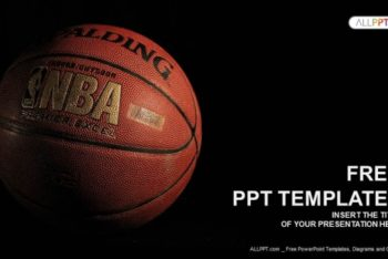 Free Dramatic Basketball Scene Powerpoint Template