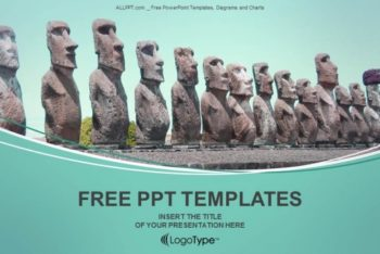 Free Easter Island Statues Powerpoint Template