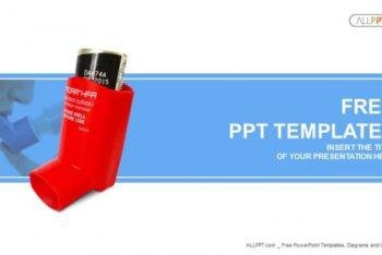 Free Asthma Inhaler Scene Powerpoint Template