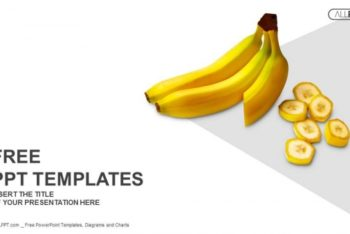 Free Whole Plus Sliced Banana Powerpoint Template