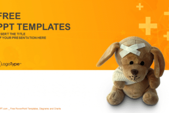 Free Cute Bandaged Teddy Bear Powerpoint Template