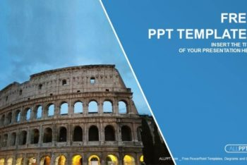 Free Ancient Colosseum View Powerpoint Template