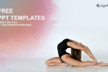 Free Beautiful Female Dancer Powerpoint Template