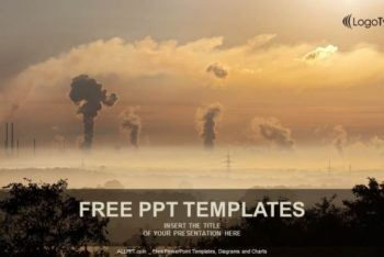 Free Industrial Smoke Scene Powerpoint Template