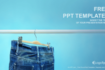 Free Blue Jeans Trouser Powerpoint Template