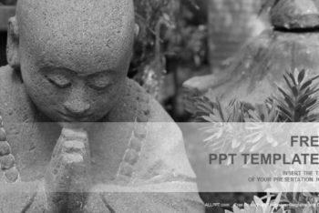 Free Grey Buddha Statue Powerpoint Template