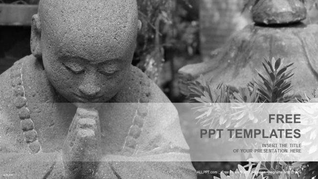 Grey Buddha Statue
