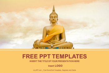 Free Golden Buddha Statue Powerpoint Template