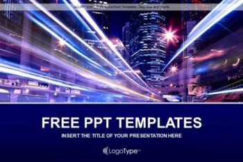 Free City Night Life Powerpoint Template