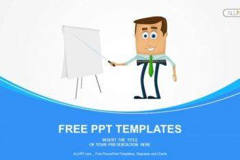 Free Cartoon Business Presentation Powerpoint Template