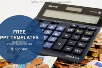 Free Calculator Plus Banknotes Powerpoint Template