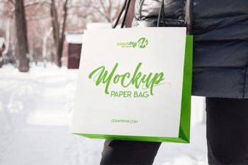 High-quality Paper Bag PSD Mockup for Free