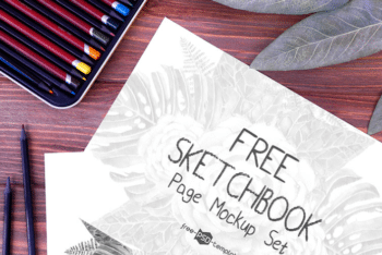 Sketchbook Page Mockup Set for Free