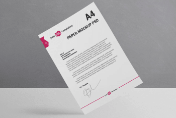 Paper Mockup – Available in PSD Format for Free