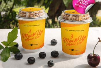 Yogurt Cup PSD Mockup for Free