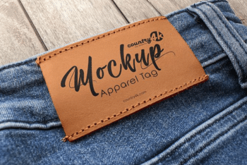 Apparel tag PSD Mockup – Available in Photorealistic Form