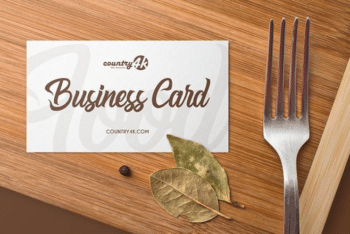 High-quality Business Card PSD Mockup for Free
