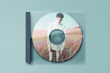 Transparent CD Case PSD Mockup for Free