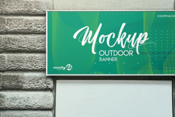 High-quality Outdoor Banner PSD Mockup