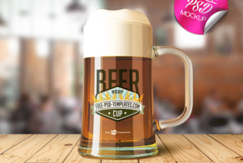 Beer Cup PSD Mockup for Free