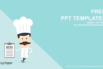 Free Cartoon Vector Chef Powerpoint Template