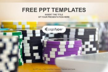 Free Colorful Casino Chips Powerpoint Template