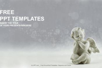 Free Ceramic Angel Sculpture Powerpoint Template