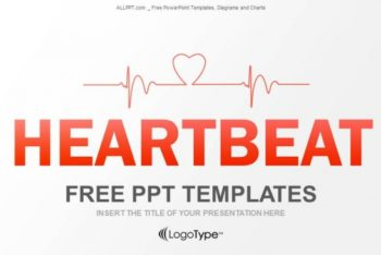 Free Heartbeat Monitor Concept Powerpoint Template