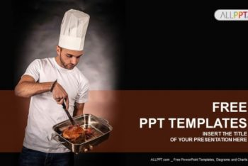 Free Chef Cooking Meat Powerpoint Template