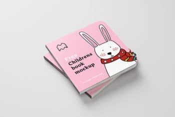 Cute Children's Book PSD Mockup for Designing Children's Book in a Hassle-free Way