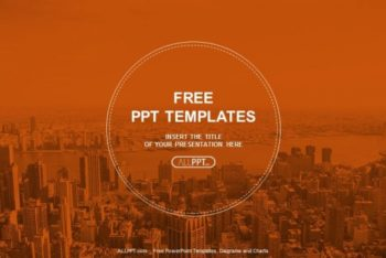 Free City Skyscrapers Panorama Powerpoint Template