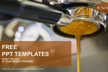 Free Espresso Coffee Machine Powerpoint Template