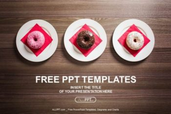 Free Sweet Colorful Donuts Powerpoint Template