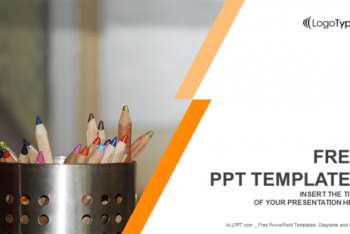 Free Educational Colored Pencils Powerpoint Template