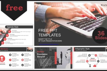 Free Computer Business Design Powerpoint Template