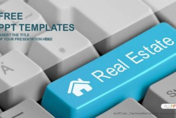 Free Keyboard Real Estate Powerpoint Template