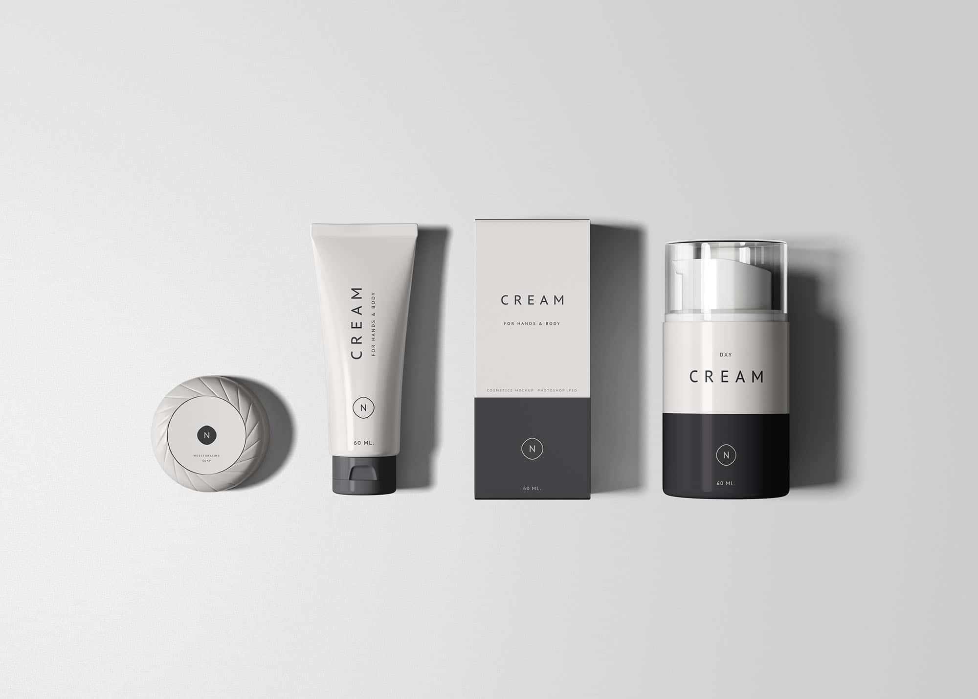 Cosmetics Packaging Set Psd Mockup Download For Free Designhooks