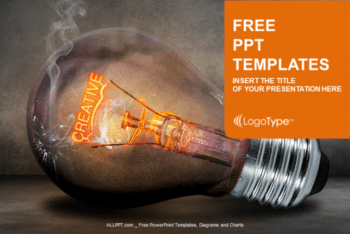 Free Realistic Creative Light Bulb Powerpoint Template