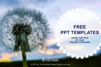 Free Fluffy Dandelion Seeds Powerpoint Template