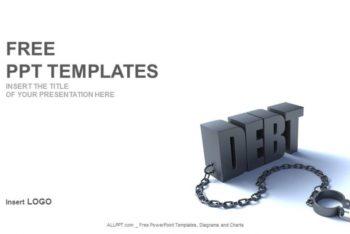Free Financial Debt Concept Powerpoint Template