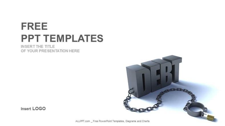 Financial Debt Concept