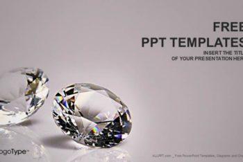 Free Gleaming Diamond Scene Powerpoint Template