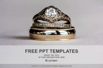 Free Exquisite Diamond Rings Powerpoint Template