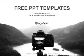 Free Camera Land Photography Powerpoint Template