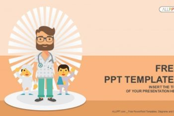 Free Doctor Plus Patients Vector Powerpoint Template