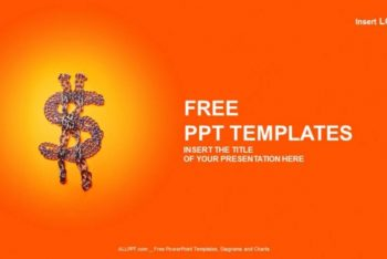 Free Dollar Sign Chains Powerpoint Template